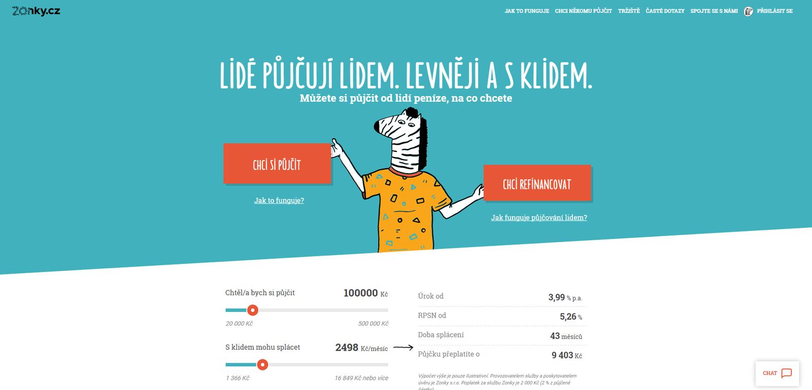 Zonky.cz, jeden z projektů CreativeDock