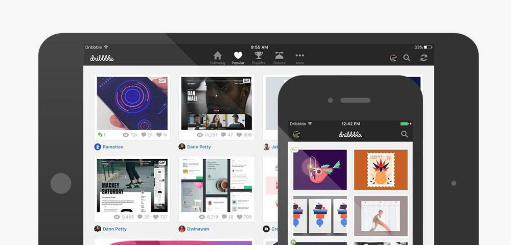 Populární platforma pro designery Dribbble po 8 letech vydává oficiální mobilní aplikaci