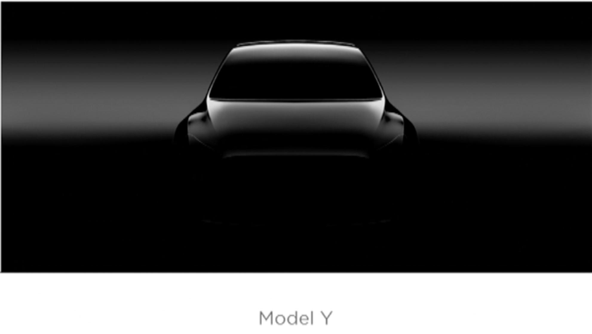 Nejnovější teaser na nový Model Y.