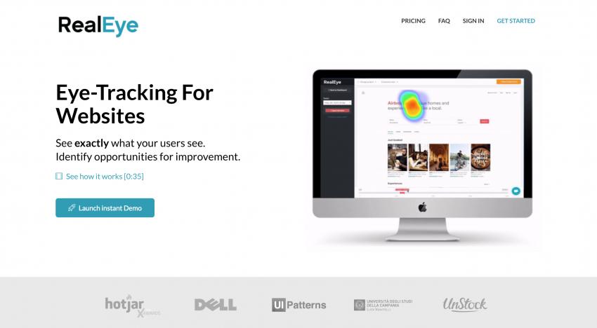 RealEye: nástroj, který dokáže přesně zobrazit, na co se dívají uživatelé webových stránek