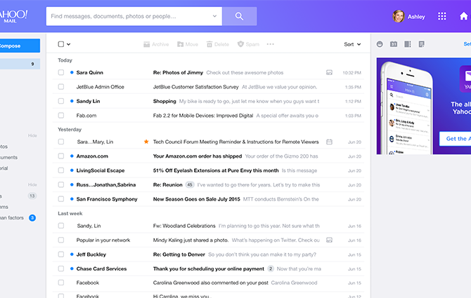 Podívejte se na úplně novou podobu emailu, kterým si chce Yahoo zachránit svoji pověst
