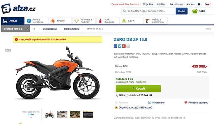 Alza.cz začíná s prodejem elektromotorek