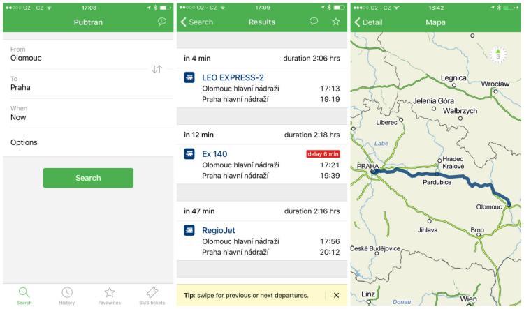 Seznam.cz spustil pro iPhone své jízdní řády s integrací služby Mapy.cz