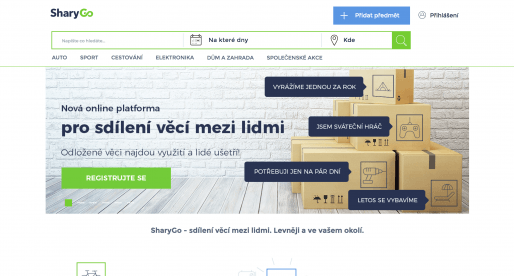 SharyGo: český startup, který nabízí online platformu pro sdílení věcí mezi lidmi
