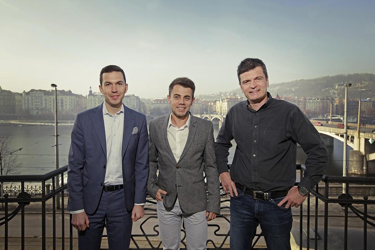 Michal Mička, Petr Svoboda (ShopSys), Ondřej Fryc (Reflex Capital)