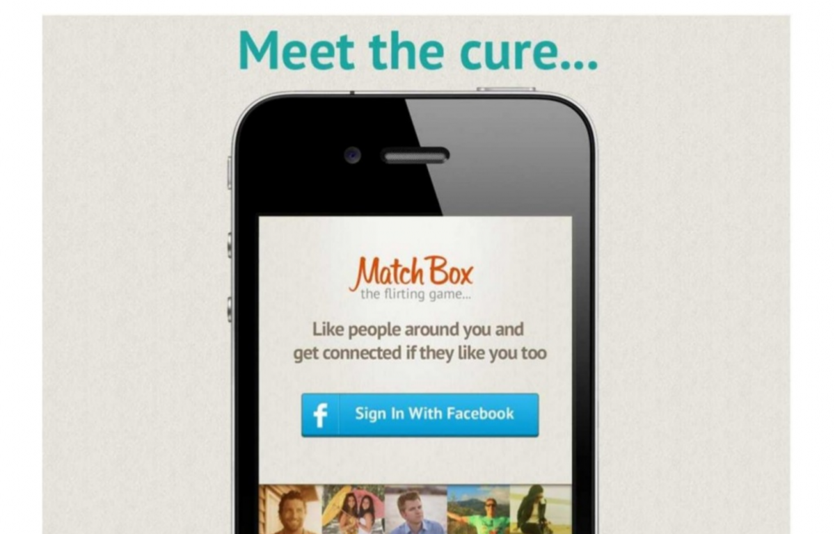 Tinder před přijetím do prvního inkubátoru, ještě se jménem Match Box.