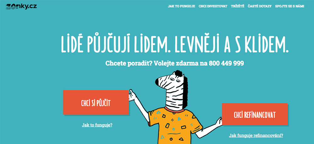 Na české P2P půjčovací službě Zonky.cz se půjčila již miliarda korun