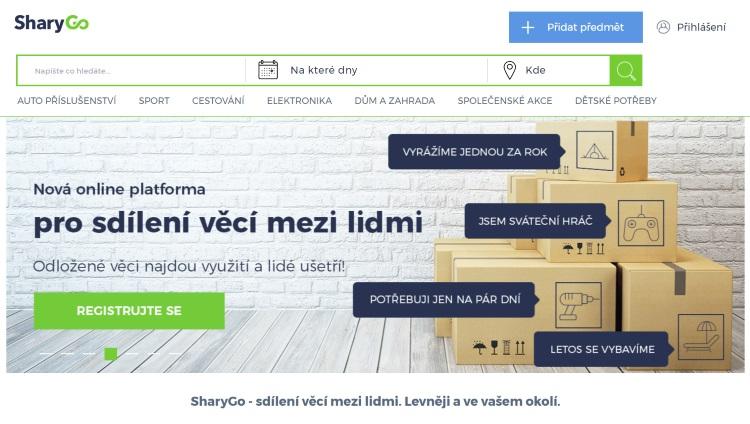 Platforma pro sdílení věcí SharyGo se s téměř milionovou investicí rozšiřuje do dalších měst