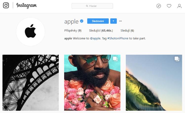Apple si založil Instagram, na kterém propaguje fotky uživatelů pořízené iPhonem