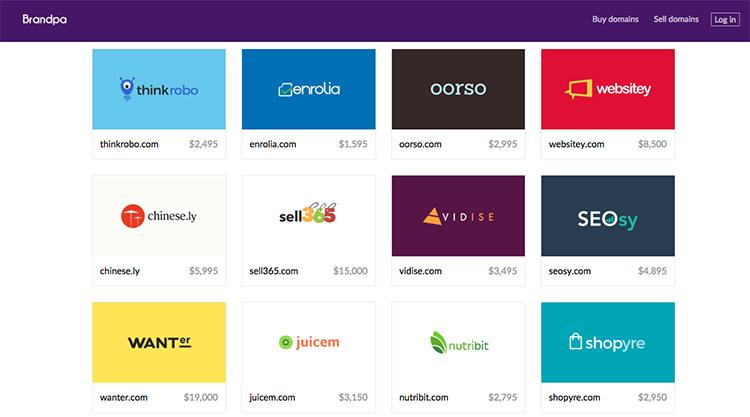 Brandpa je platforma, která vám pomůže s nákupem prémiové domény pro váš startup