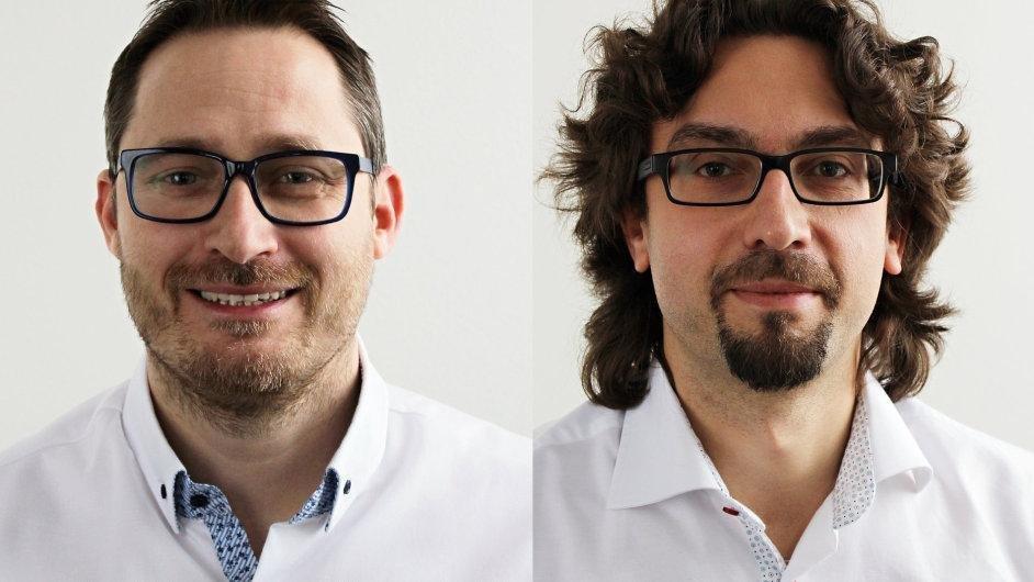 Finanční ředitel Kosik.cz, Roman Neshyba (vlevo) a nový CEO Zbyněk Šlosar. Oba nastoupili letos v lednu.