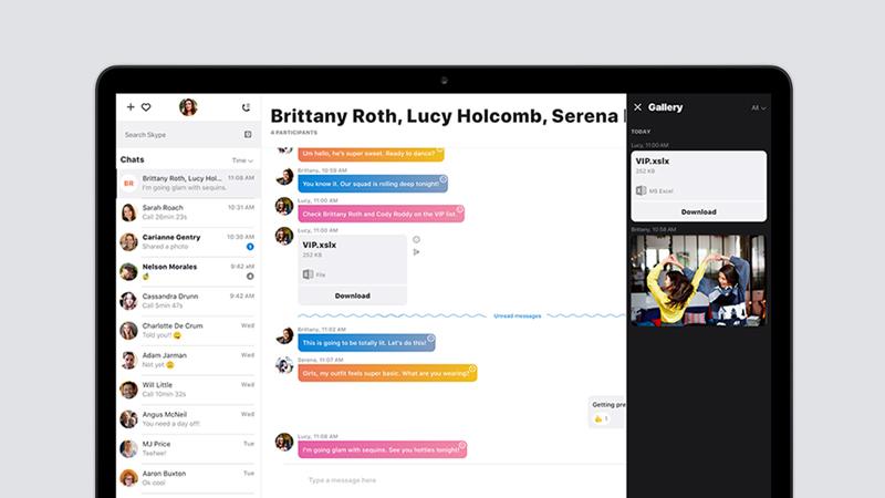 Takto vypadá nový design Skypu, který je nyní v beta verzi dostupný na Windows a Mac OS