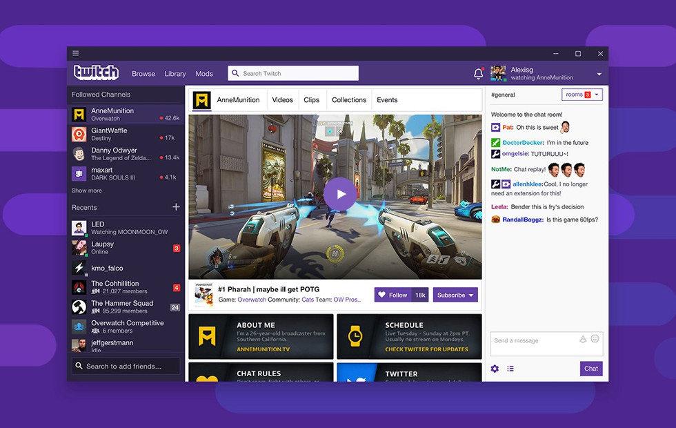 Platforma pro streaming herních videí Twitch spouští vlastní aplikaci pro Windows a MacOS