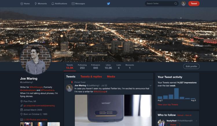 Webový Twitter dostane noční režim