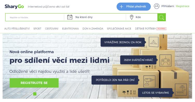 Česká platforma na sdílení věcí SharyGo hlásí investici ve výši desítek milionů korun