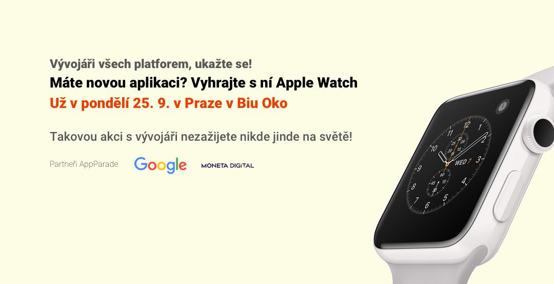 Blíží se 28. AppParade, na které CzechCrunch rozdá nové Apple Watch 2