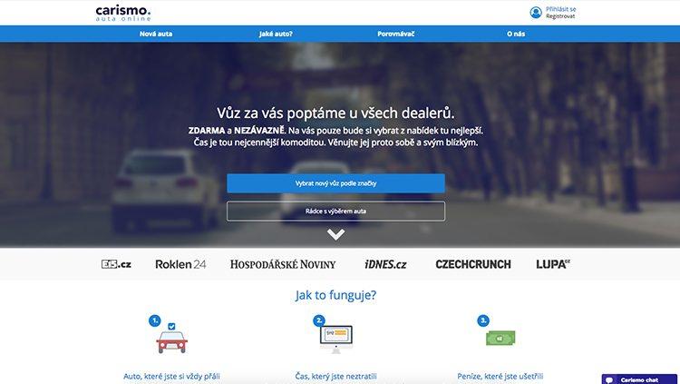 Český startup pro online prodej vozů Carismo se nově zaměřuje i na firemní zákazníky