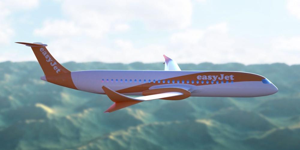 Koncept elektrického letadla od EasyJet ve spolupráci s Wright Electric