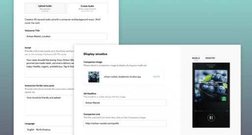 S novou platformou od Spotify si můžete během pár minut automaticky vytvořit vlastní audioreklamu