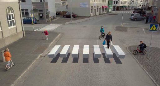 Island chce zamezit většímu počtu nehod díky inovativnímu 3D přechodu