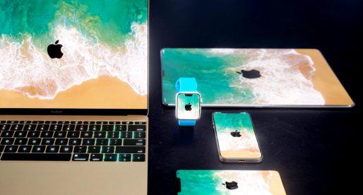 Takto by mohl vypadat MacBook, iMac či iPad s bezrámečkovým displejem ve stylu iPhone X