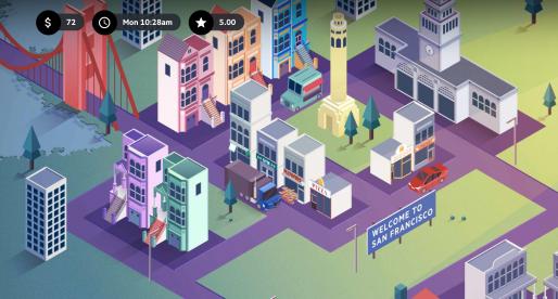 V této online hře si můžete na vlastní kůži vyzkoušet, jaké je to být řidičem Uberu
