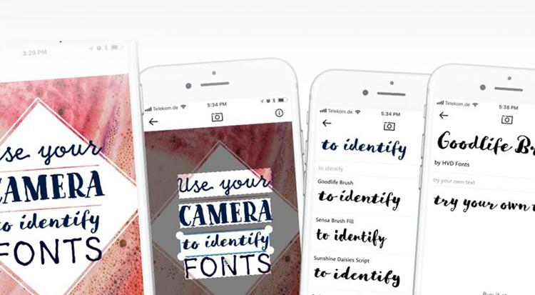 Aplikace WhatTheFont na základě fotky z mobilu rozpozná jakékoliv písmo