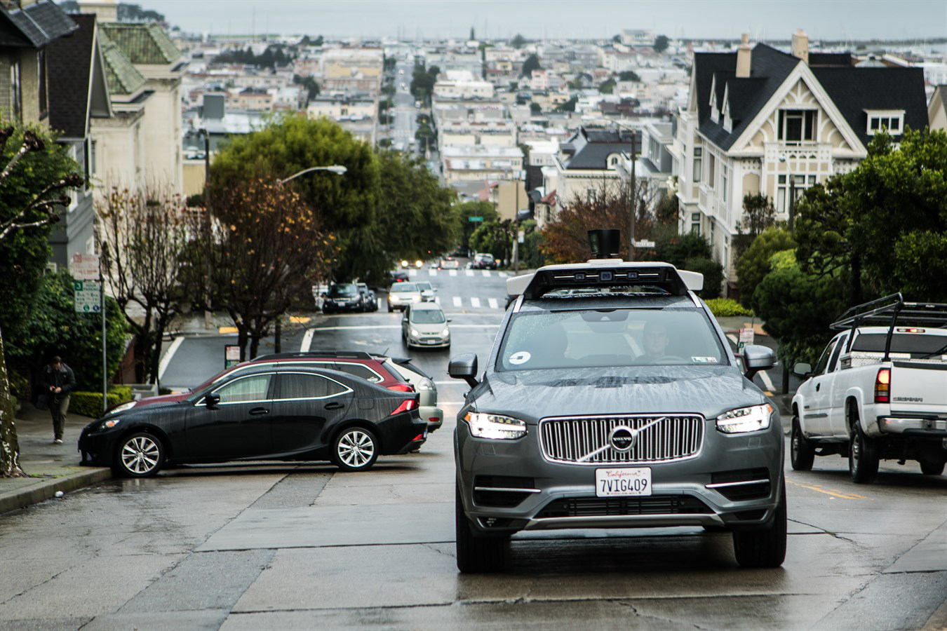 Testovací samořídící vozidla Uberu