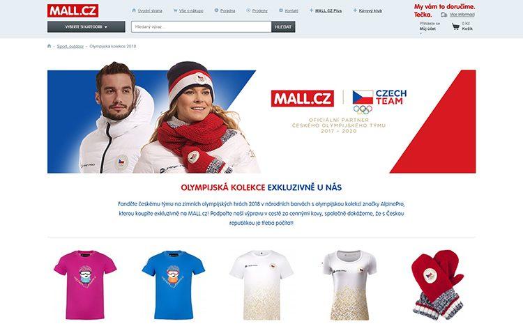 Mall.cz se stal oficiálním partnerem Českého olympijského týmu pro blížící se olympiádu v Koreji