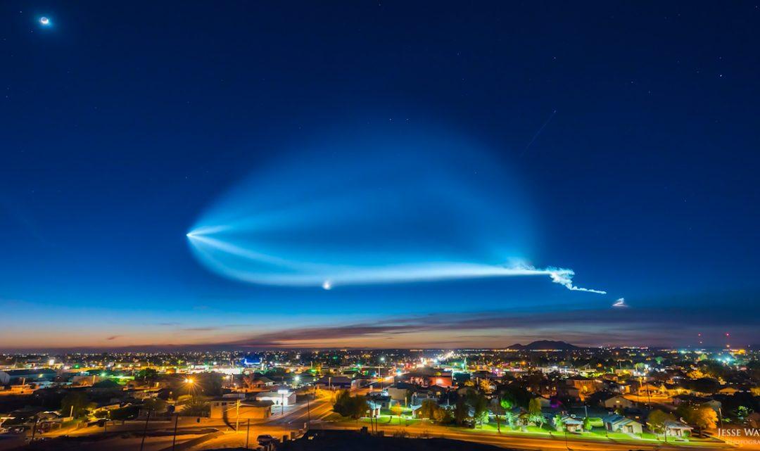 Podívejte se na úžasné časosběrné video posledního vzletu rakety Falcon 9 od SpaceX