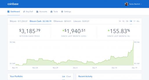 Směnárna kryptoměn Coinbase přidává po Bitcoinu, Ethereum a Litecoinu podporu nové měny