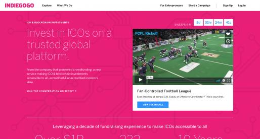 Crowdfundingová platforma Indiegogo spustila investice do kryptoměnových projektů