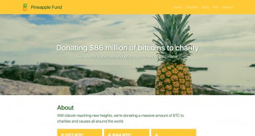 Neznámý investor do Bitcoinu rozdává na charitativní účely více než 86 milionů dolarů