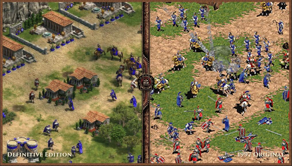 Vlevo vznikající remaster, vpravo originál