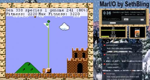 Vývojář na živém streamu již 17 dní učí umělou inteligenci hrát legendární Super Mario Bros