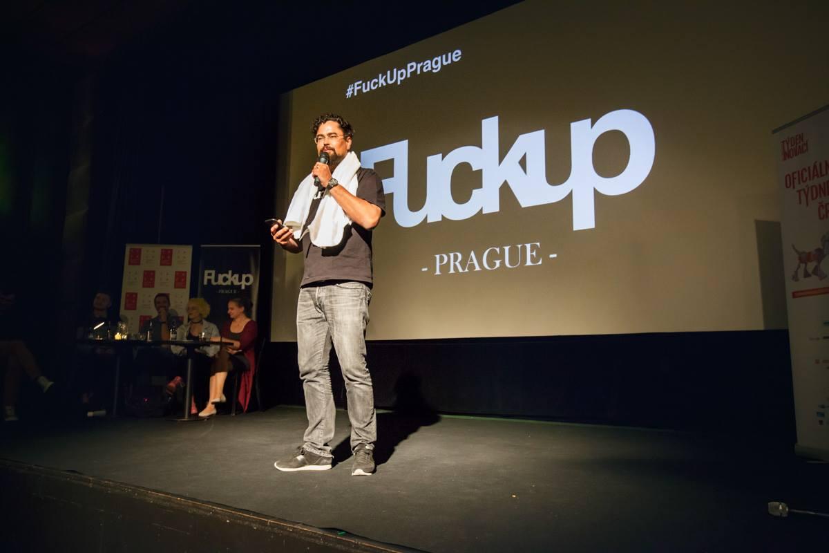 Akcí provede  Tomáš Studeník z FuckUp Nights