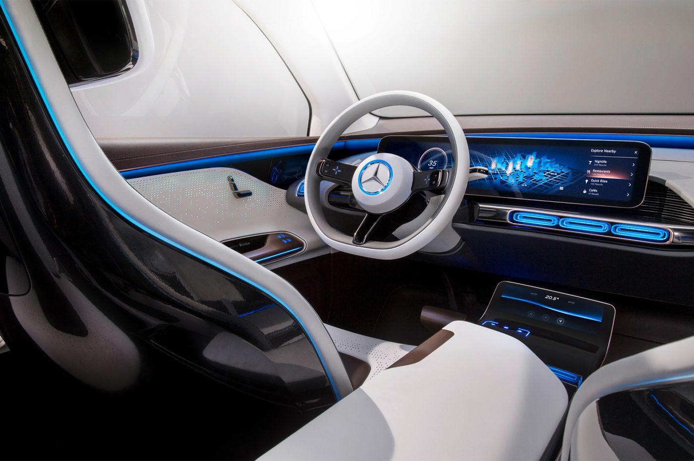 Interiér Conceptu EQ (EQC) od Mercedesu