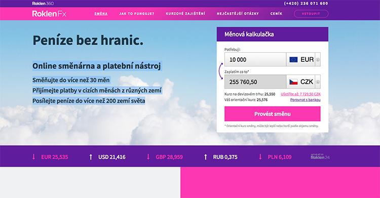 Českému fintech startupu RoklenFx vzrostl obrat směn o 263 procent na 10 miliard Kč