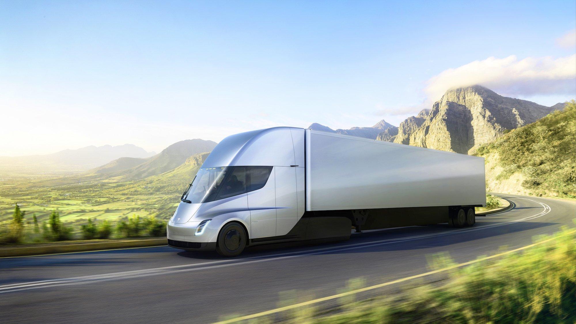 Chystané nákladní elektromobily Tesla Semi