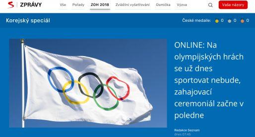 Seznam.cz na svém novém kanálu Televize Seznam chystá vlastní olympijské zpravodajství
