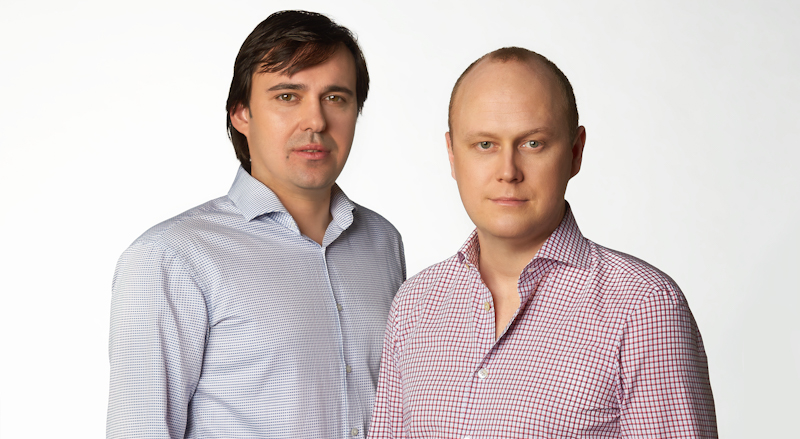 Evgeny Vigovsky (COO, CTO) a Alexander Legoshin (předseda dozorčí rady), zakladatelé startupu Saifu