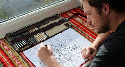 Nezávislý ilustrátor Dan Bell překresluje národní parky ve stylu map z Pána prstenů