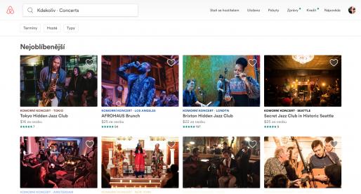 Airbnb spouští platformu pro rezervaci koncertů na neobvyklých místech