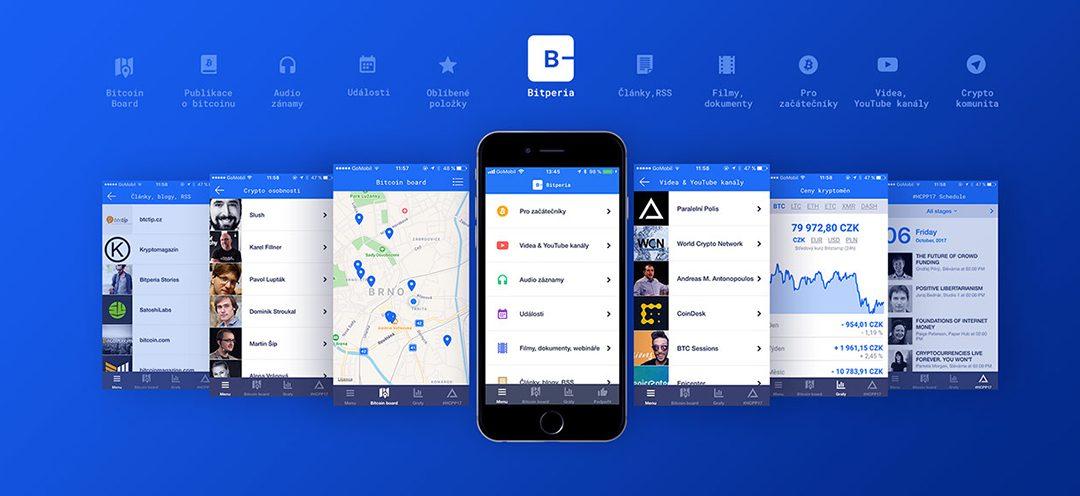 Bitperia: česká aplikace, která shromažďuje ty nejzajímavější informace ze světa kryptoměn
