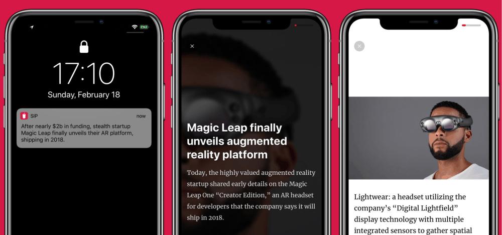Nová mobilní aplikace Sip vám nabídne ručně tříděný výběr těch nejzajímavějších technologických novinek