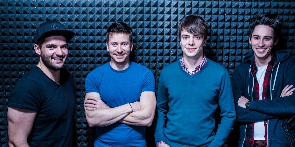 Zakladatelé STRV: Lubo Smid, David Semerád, Martin Šťáva a Pavel Zeifart