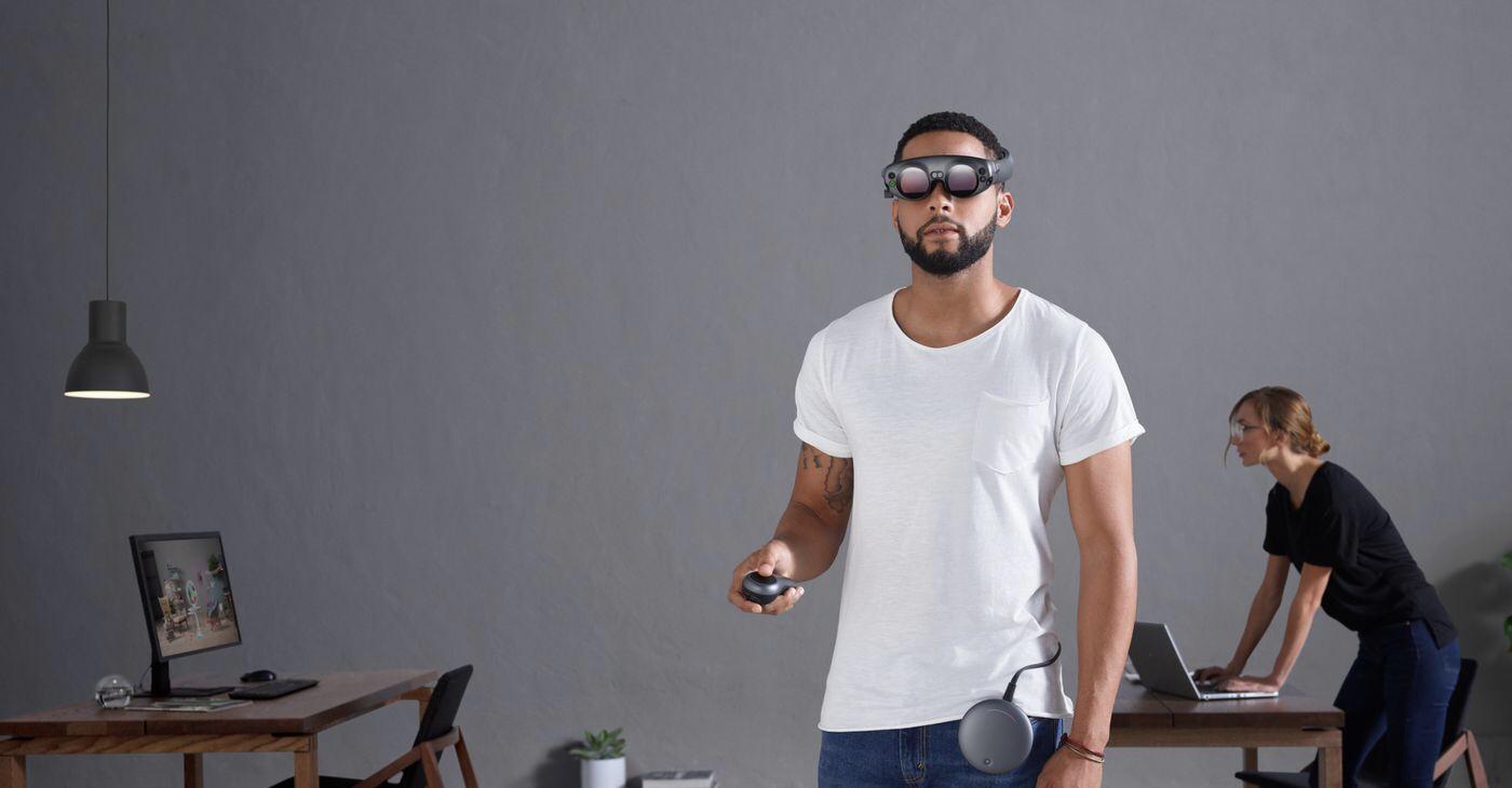 """Zajímavým hráčem na poli AR/VR je i startup Magic Leap, který na investicích nasbíral již přes 2,3 miliardy dolarů a představil """"inovativní"""" zařízení Magic Leap One: Creator Edition"""