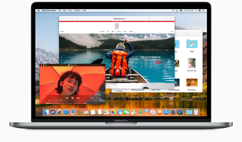 Uživatelské rozhraní aktuálního operačního systému macOS High Sierra