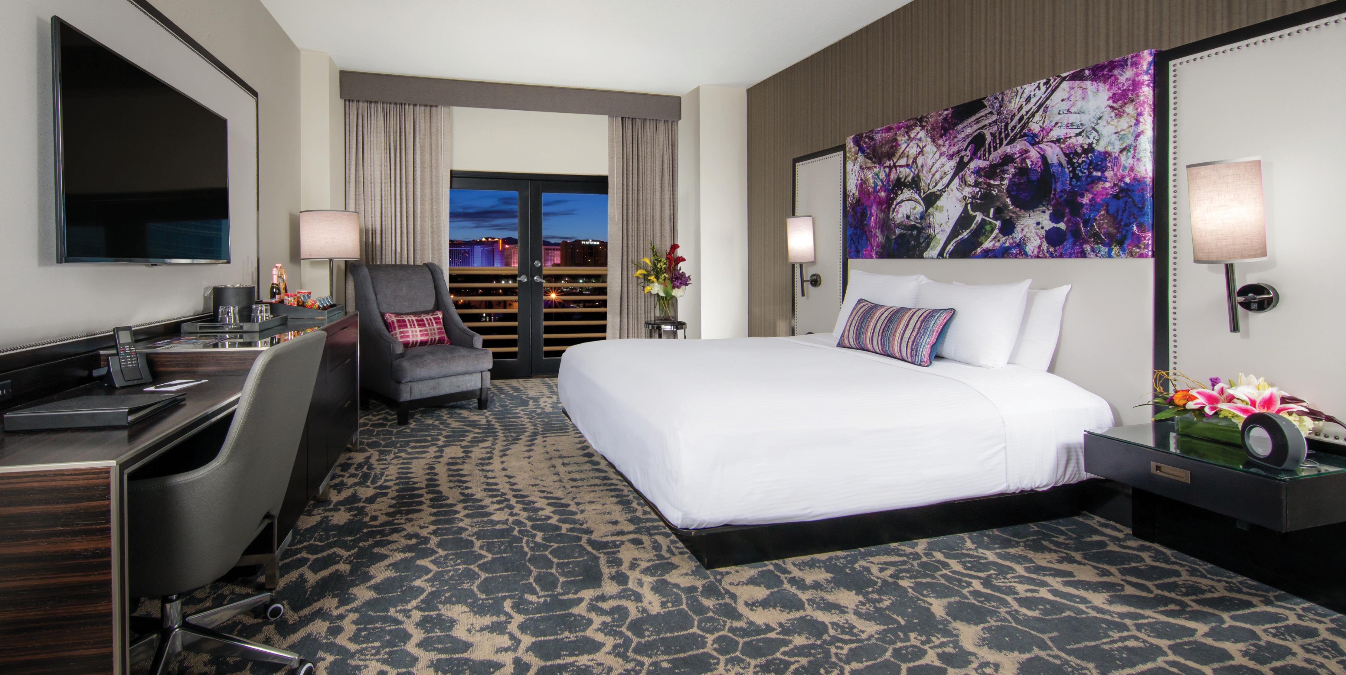 Jeden z typů pokojů ve stávajícím hotelu Hard Rock Las Vegas