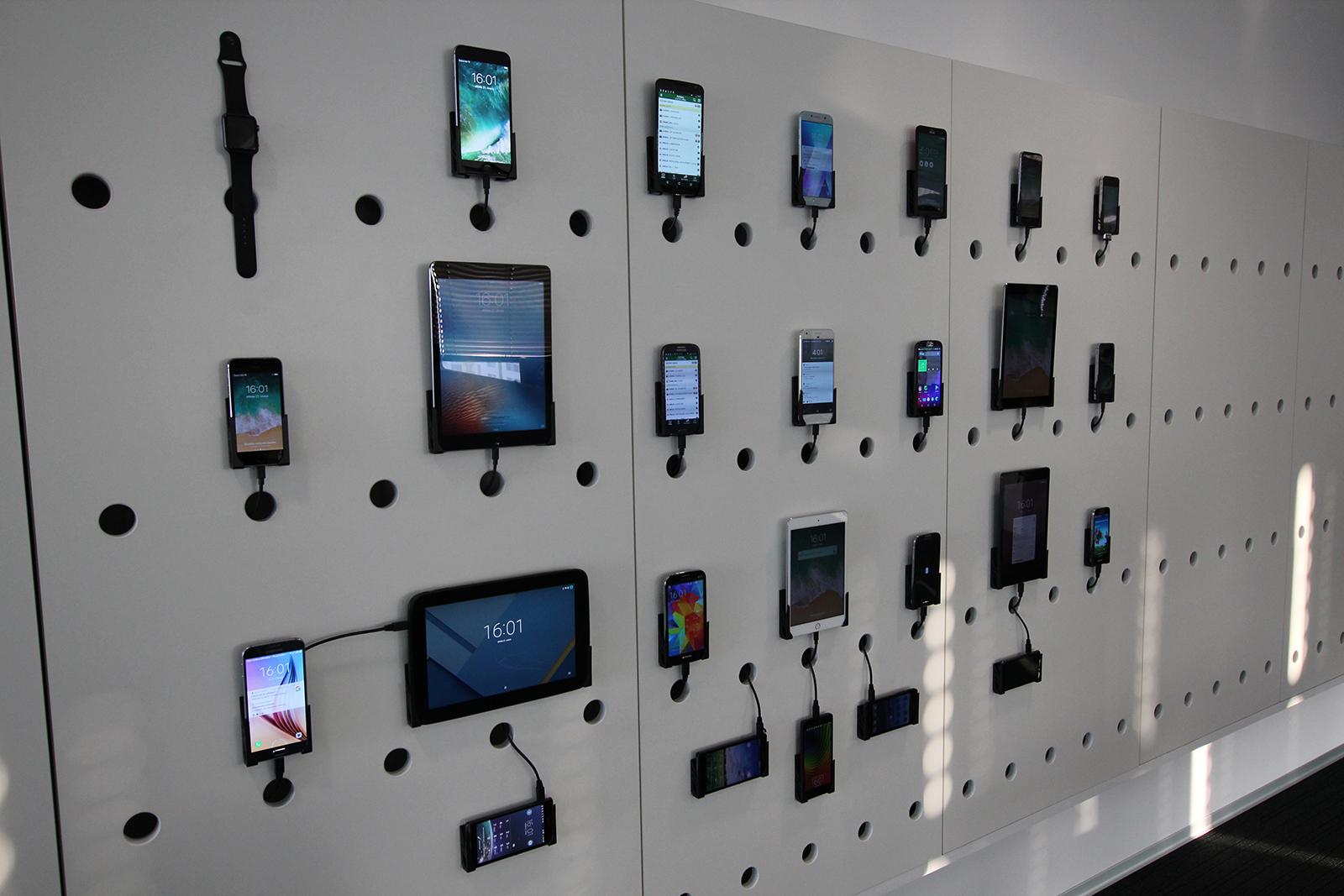 Testovací zeď pro jednotlivá zařízení